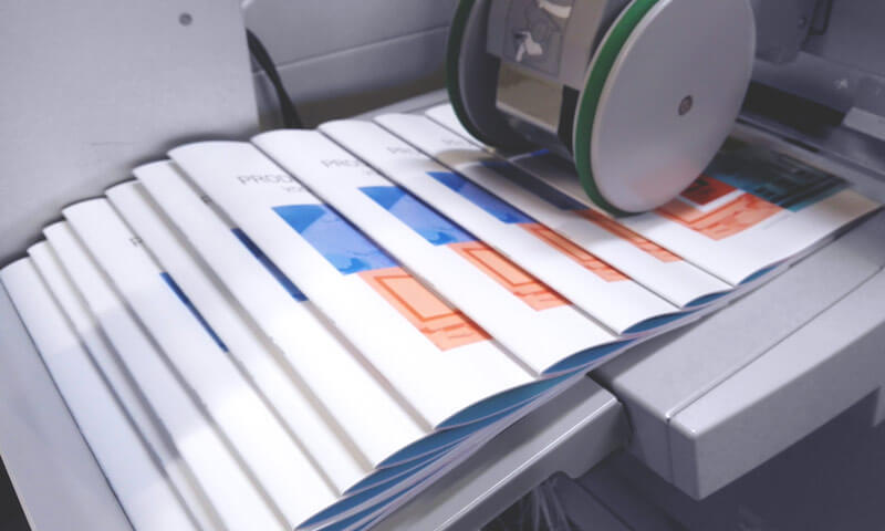 Brochures uit de printer